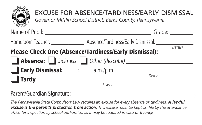 Attendance  Governor Mifflin School District