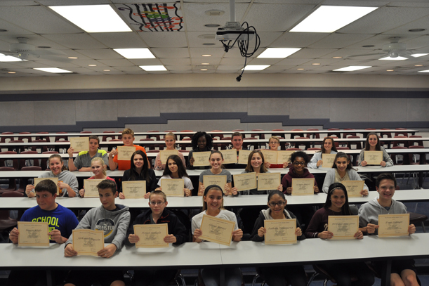 8th grade students of the quarter