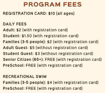Registration and Pool Fees